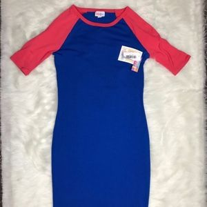 HP LuLaRoe NWT Julia Dress XXS Baseball Tee